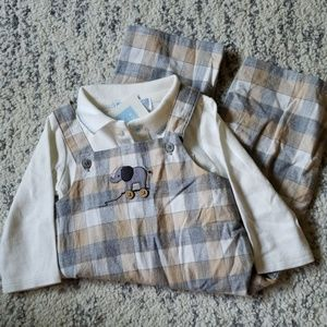 Janie and Jack checkered elephant outfit